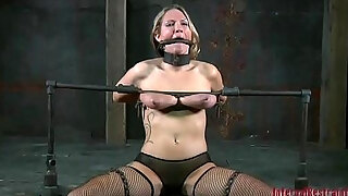 gagged angel is being disciplined for being such a slut