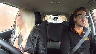 huge boobs blond milf humps in driving college