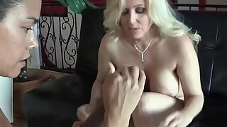 busty lesbian mature strapon fucked in pov