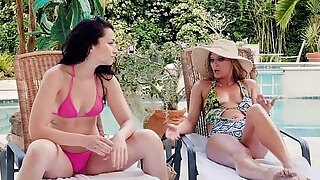 milf and lesbo legal age juvenileager playing at poolside