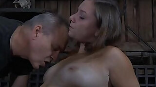 fastened up babes sexy pussy is being tormented perversely