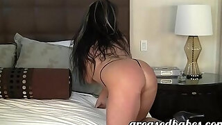 milf with huge boobs indianna jaymes masturbates with vibrator and has squirting orgasm