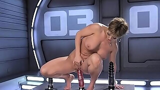 big bazookas milf acquires machine in the wazoo