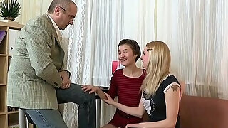 babe is delighting mature educator with her chaste vag