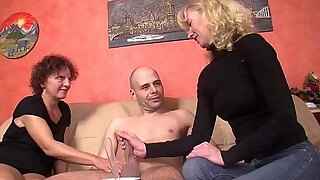 mature german honeys pulverize in 3some