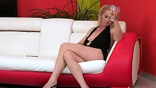 highheeled grandmothers acquires curly snatch group fucked