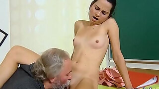 kissable school angel acquires enticed and railed by mature mentor