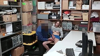 cute blond legal age juvenileager shoplifter bound banged
