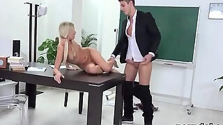 innocent school beauty was tempted and ravaging by mature instructor