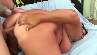 mature fattie lacy bangs is fucked in her mouth cunt and ass
