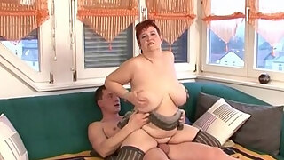 mature plus size leaned over and pussyfucked