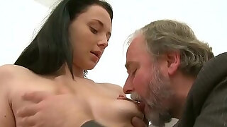 juvenile girl is being ravished by a lusty mature boy