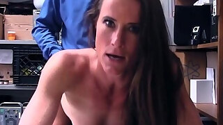 sexy athletic body milf sofie marie caught shoplifting fucked by security officer