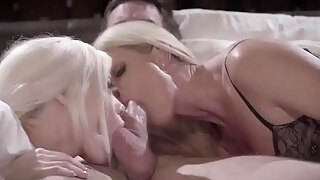 wow this vignette is a have to watch watching 2 milf step mama and daughter in law 10 pounder sharing
