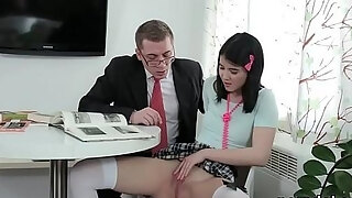 innocent school cutie acquires tempted and railed by her mature professor