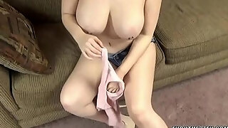 busty milf nadia white is on her knees to gulp a jock