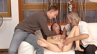 blonde displaying public unexpected experience with an mature gent