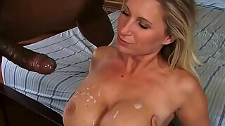 milf devon lee with large breasts engulfing and pumping large african penis