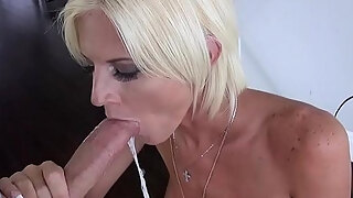 my chic blond milf stepmother deep throated my large dick