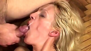 milf miss trixie screwed in her love tunnel and spunks right inwards her throat