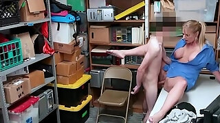 busty security milf perceived a shoplifting chaps large lengthy pecker