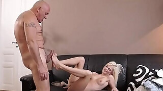mature elderly entice and youthful piddle horny platinum blonde craves to
