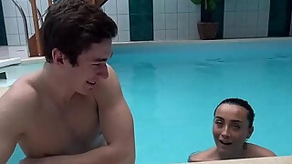 hunt4k brunette picked up and adorably banged in intimate poolside