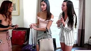 milf housekeeper copulates sexy tenants