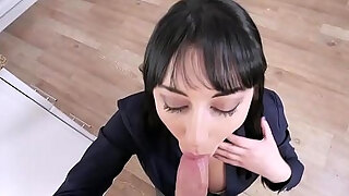 horny stepson is so tightly for his breasty milf stepmom