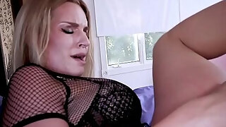 crazy lustful milf screwing by a youthful neighbors large dick
