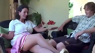 virgin son receives fucking lessonnies from hot mom