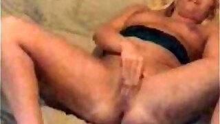 blond milf fucking big black dildo