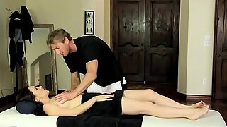 massage enjoying milf with bigtits receives drilled