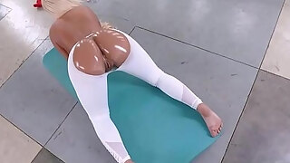 fat arse and large milk cans blond milf pawg acquires large afro dong