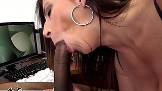 bangbros busty milf sara jay sucks a big black cock like the professional she is
