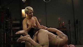 experienced blond milf bitch goddess predominates chap