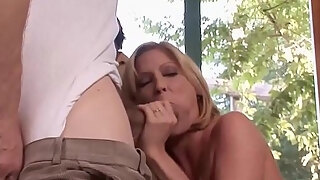 mature wifey lya pink frantically deep throats and bonks male during the time that spouse pee game