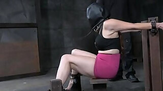 submissive milf acquires her soles canned