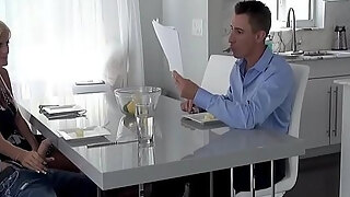 mom blows sons in law infront of dad